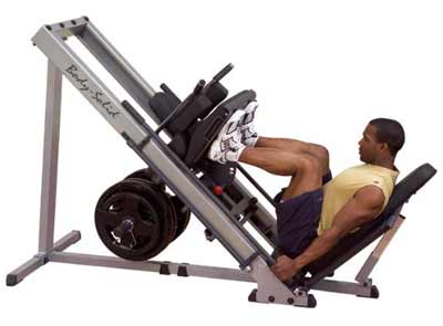 Bodysolid Leg Press maximale belasting 450 kilo