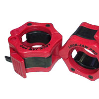 Krachttraining Pro Lock Jaw Collar Red/Black Bodysolid - Fitnessboutique
