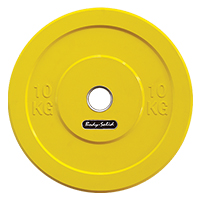 Krachttraining Bodysolid Olympic Bumper Plate Yellow 10 kg