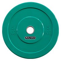 Krachttraining Olympic Bumper Plate Green 5 kg Bodysolid - Fitnessboutique