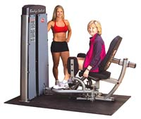 Isolatiestations Bodysolid Pro Dual Twee in een abductoren en adductoren post
