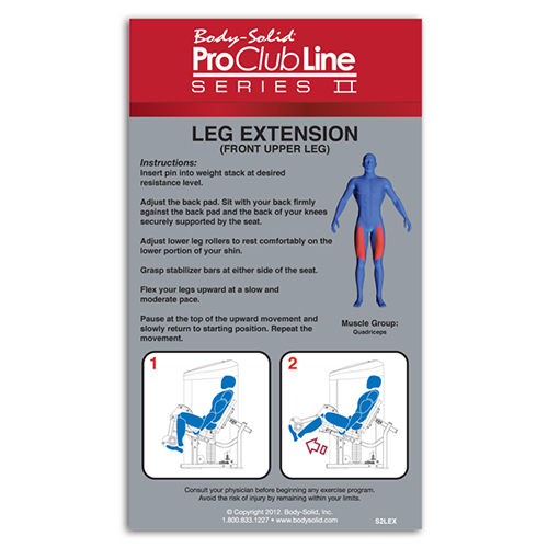 Bodysolid Club Line Leg Extension 75 kg