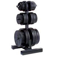 Opbergsteunen Olympic Weight Tree & BarHolder Bodysolid - Fitnessboutique